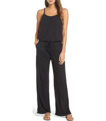 women's becca breezy basics jumpsuit, size small - black (nordstrom exclusive)