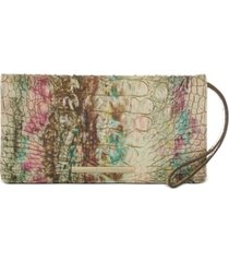 brahmin melbourne embossed leather annmarie wallet