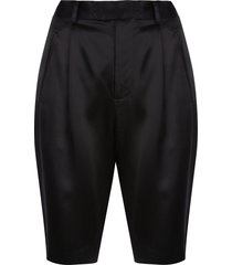 fleur du mal slim-fit bermuda shorts - black