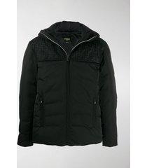 fendi zucca mesh hooded puffer jacket