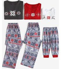 patterned family matching christmas pajama set