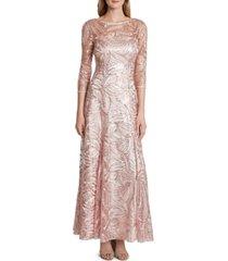 tahari asl embellished sequin gown