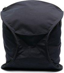 homme plissé issey miyake geometric zipped backpack - blue