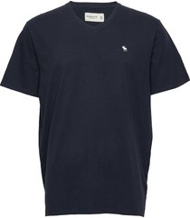 icon vee t-shirts short-sleeved blå abercrombie & fitch