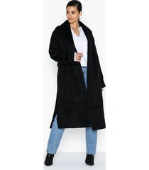 missguided collar coat w side splits kappor