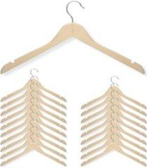 honey can do 20-pc. basic shirt hanger, maple finish