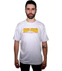 camiseta manga curta skate eterno fire branco - kanui