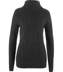 pullover a collo alto (nero) - bpc bonprix collection