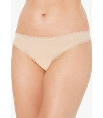 calvin klein women's lace-trim thong underwear qd3705