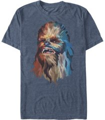 star wars men's classic artsy chewbacca face short sleeve t-shirt