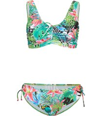 bikini sostenibile con taschine portaprotesi (set 2 pezzi) (verde) - bpc bonprix collection