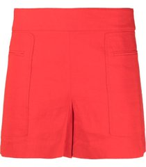 theory jetted pocket shorts - red