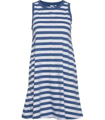 sleeveless swing dress kort klänning blå gap