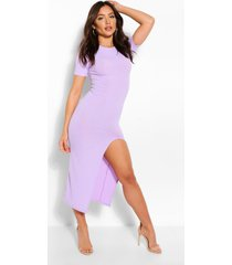 jumbo rib split side mini dress, lilac