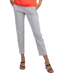 trina turk moss striped cropped pants