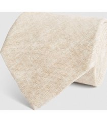reiss toulouse - linen tie in oatmeal, mens