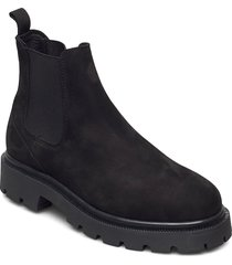 slfemma chelsea nubuck boot b shoes chelsea boots svart selected femme