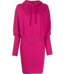 opening ceremony ribbed hoodie dress - pink