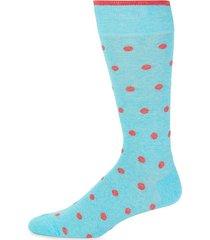 polka dot-print crew socks
