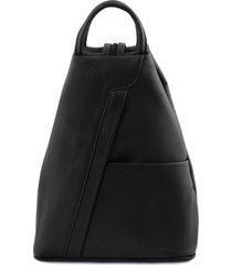 tuscany leather tl141881 shanghai - zaino in pelle morbida nero
