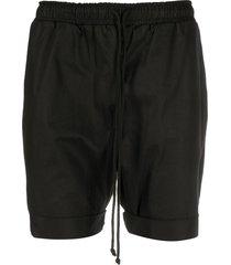 alchemy drawstring cuffed shorts - black