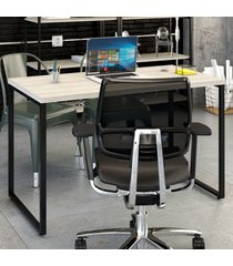 mesa escrivaninha kuadra snow - compace