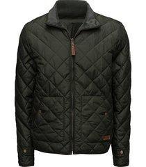 pet light jacket reversible - grs/v doorgestikte jas groen knowledge cotton apparel