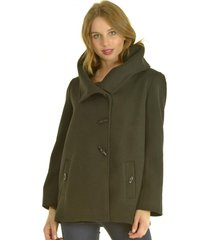 abrigo corto negro bou's