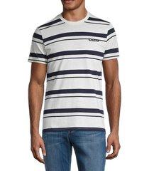 ben sherman men's stripe logo t-shirt - snow white - size l