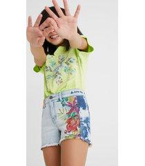 denim shorts print - blue - 13/14