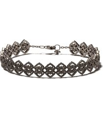 colette 18kt black gold diamond bracelet