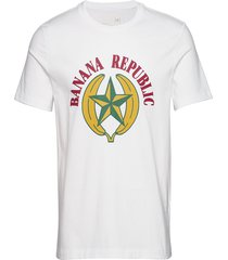 i graphic tee - br logo ii t-shirts short-sleeved vit banana republic