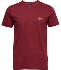 tee curved t-shirts short-sleeved röd boss