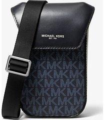 mk borsa a tracolla greyson con logo per smartphone - blu ammiraglio/blu pallido (blu) - michael kors