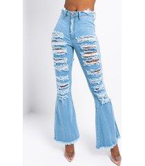 akira hotel california distressed flare jeans