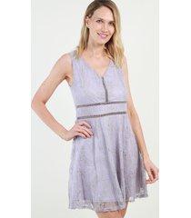 vestido de encaje noa lila night concept