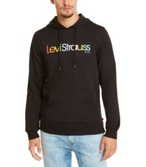 levi's men's burndlen fleece logo hoodie