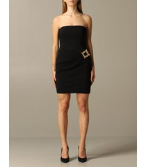 moschino couture dress moschino couture cady dress with frame buckle