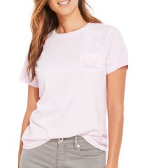 vineyard vines women's short sleeve whale graphic pocket tee, size x-large in pink lavender at nordstrom