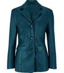 blazer lungo in similpelle (verde) - bpc bonprix collection