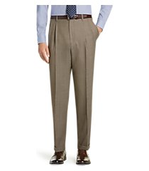 executive collection traditional fit pleated front tic weave dress pants clearance by jos. a. bank