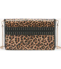 women's jenn clutch faux leather convertible black leopard from sole society
