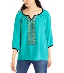 nanette lepore beaded blouse