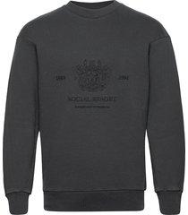 artwork crew sweat-shirt tröja svart han kjøbenhavn