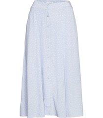 skirt lång kjol blå rosemunde