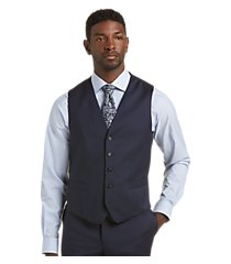 signature collection traditional fit solid men's suit separate vest by jos. a. bank