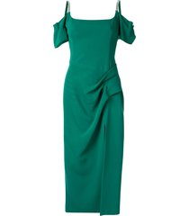 manning cartell style tracking dress - green