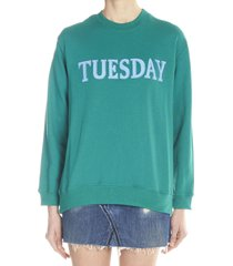 alberta ferretti rainbow week sweatshirt