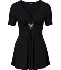maglia con spilla asportabile (nero) - bodyflirt