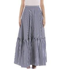 plan c striped long skirt